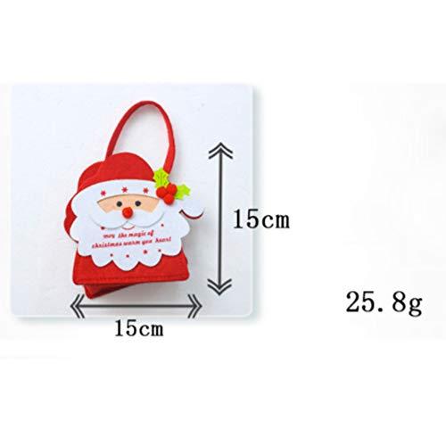 YaptheS Christmas Gift Handbag Xmas Santa Claus Gift Handbag Non-woven Fabric Tote Bag Trick or Treat Candy Bag Mall Gift Bags Ghost Festival Decoration Christmas Gift by YaptheS (Image #2)