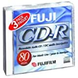 Fuji 3-Pack 80 Minute CD-R Discs (CDR803PK) (Discontinued by Manufacturer)