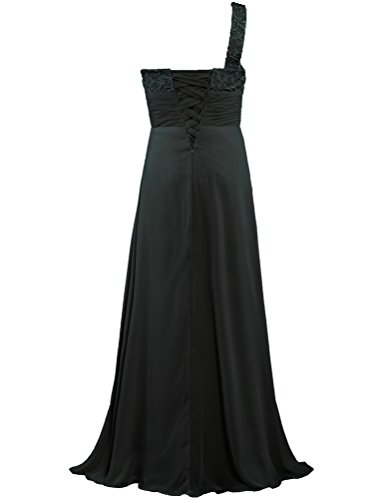 Black Shoulder Dress Women's One Gown Long Bridesmaid Prom ANTS Lace OTzwq