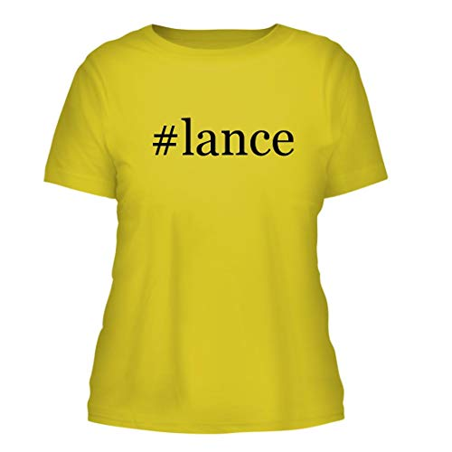 #Lance - A Nice Hashtag Misses Cut Women's Short Sleeve T-Shirt, Yellow, Large