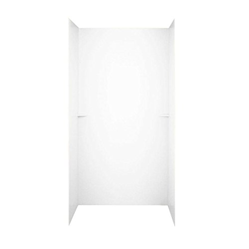 Swan SK364872.010 Solid Surface Glue-Up 5-Panel Bathtub Wall Kit, 36-in L X 48-in H X 72-in H, ()