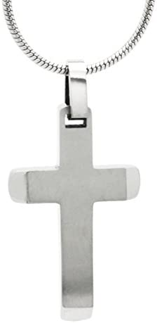 Gebürstetes Titan Kreuz Anhänger