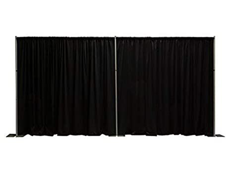 OnlineEEI, Premier Pipe and Drape Backdrop or Room Divider Kit, 8ft x 20ft  (Black)