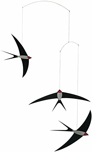 Swallow Mobile (Flensted Mobiles 3 Swallow Hanging Mobile - 20 Inches Cardboard)
