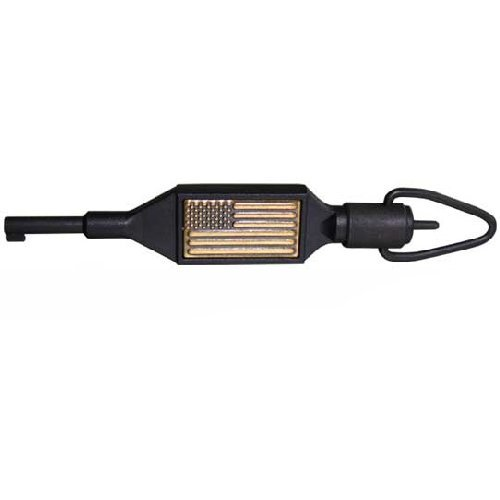 (Zak Tool ZT-100 Swivel Key with USA Flag, Black)