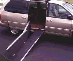 Trifold Ramp - 10 ft. suggested use: 4-4 1/2 steps (26 '' rise)