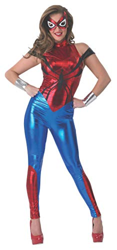Marvel Secret Wishes Women's Universe Spider-girl Costume Cat Suit And Eye -
