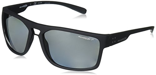 Arnette Men's Brapp Polarized Wrap Sunglasses, Matte Black, 62 - Sunglasses Arnet