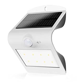 NTE 69 LL 10 LED SMART SOLAR OUTDOOR WALL LIGHT WITH PIR MOTION SENSOR