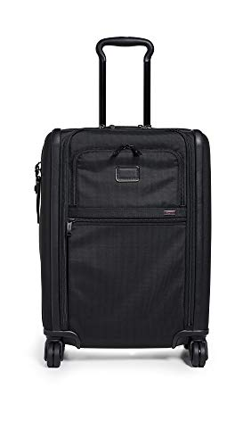 Tumi Men's Alpha Continental Dual Access 4 Wheel Carry On, Black, One Size