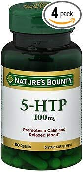 Nature's Bounty 5-HTP 100 mg Dietary Supplement Capsules - 60 ct, Pack of 4