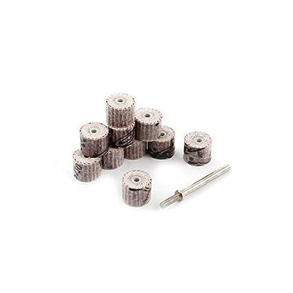 10 piezas de 12 mm de grano 120 Jefes herramienta de pulido de pulido Dia de la aleta de ruedas - - Amazon.com