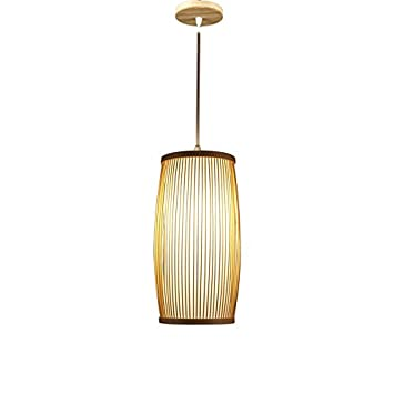 Lying Lámpara de bambú, barra de luces colgantes Restaurante ...
