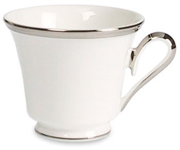 Lenox Solitaire White Platinum Banded Bone China Cup
