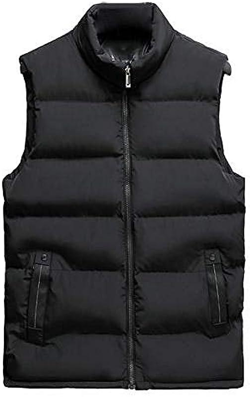 Casual Men Winter Stehkragen Tasche Reißverschluss Weste Plus Size Dicke warme Weste Dicke warme Weste zerstreuen kalt warm halten: Odzież