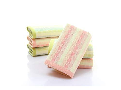 Min Ben Toalla de baño Enrejado de algodón Adulto Cara de Lavado Toalla Suave Absorbente hogar Toalla de Mano (Rosa) Toalla de niños: Amazon.es: Hogar