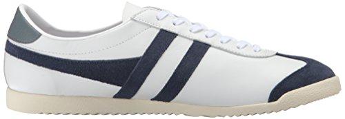 Gola Heren Kogel Lederen Mode Sneaker Wit / Marine