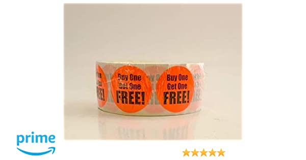 1,000//roll QSX Labels 1.5 Retail Price Point Labels Gluten Free Bright Red