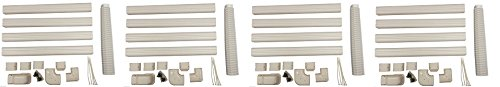 Decorative PVC Line Cover Kit for Mini Split Air Conditioners and Heat Pumps (4-Pack)