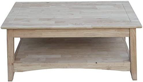 International Concepts Bombay Tall Coffee Table, Unfinished