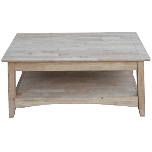 (International Concepts OT-4TCL Bombay Tall Coffee Table, Unfinished)