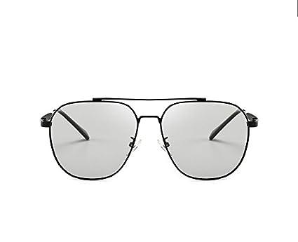GR Gafas de Sol polarizadas HD Camaleón Inteligente Sunglasse para Hombres Mujeres Anti-UVA Anti