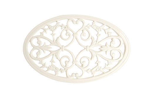 Collection Trivet - French Kitchen Collection Trivet Oval Large Ivory by French Kitchen Collection