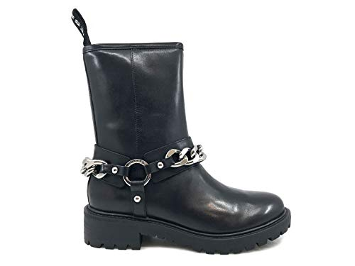 Black Flhae4 Donna Stivaletto Guess Nera Lea10 Pelle In v47O7xUqw