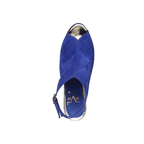 V 1969 - THECLE_BLUETTE Donna Sandali Della Caviglia Cinghia Tacco 12.5 cm, Piattaforma 2.5 cm