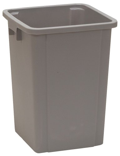Tough Guy 4PGR8 19 gal. Square Gray Trash Can (Square Can Trash)