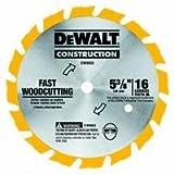 DEWALT DW9055 5-3/8-Inch 16 Tooth Series 20 Arbor Carbide Circular Saw Blade