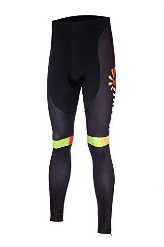 Mzcurse Men's Bike Bicycle Long Compression Tights Pants 3D