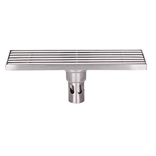 PEIQI Linear Shower Drain with Removable Cover Brushed 304 Stainless Steel Floor Drainer for Kitchen Washroom Garage and Basement,30Cm by PEIQI