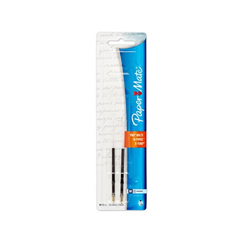 - Paper Mate G-Force, Titanium and X-Tend Medium Tip Black Lubriglide Ink Pen Refills, Pack of 2 (5640736PP)