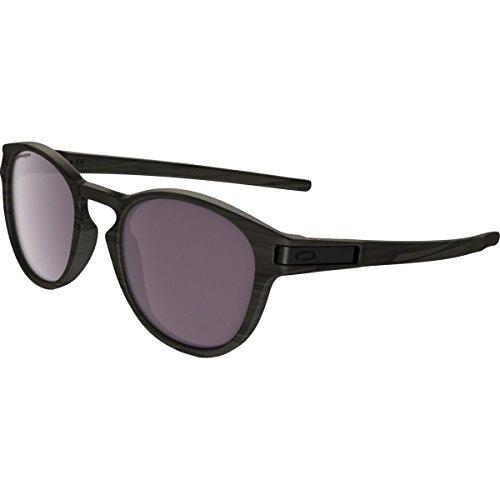 Oakley Men's Latch Polarized Iridium Oval Sunglasses, Woodgrain, 53 - Oakley Wood Sunglasses Grain