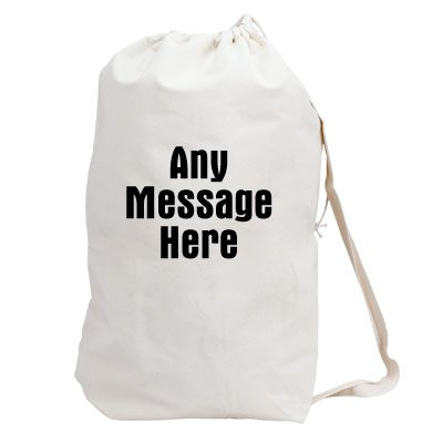 GiftsForYouNow Any Message Here Personalized Laundry Bag, 19