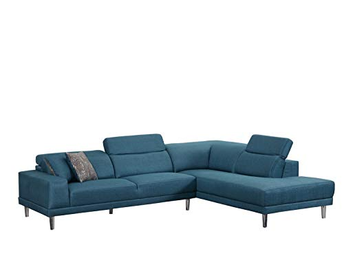 Blackjack Furniture Arturo Modern Fabric Sectional Sofa, Right Facing, 115