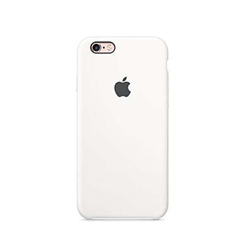 Optimal shield Soft Leather Apple Silicone Case Cover for Apple iPhone 6 /6s (4.7inch) Boxed- Retail Packaging (White)