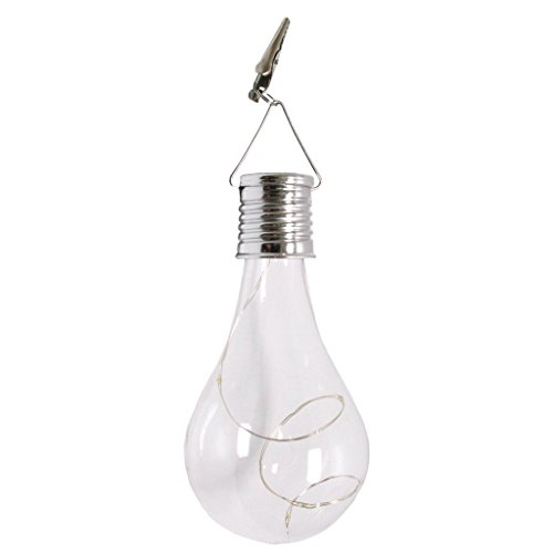 """Price comparison product image Gerson 92964 - 6"""" Solar Bulb with Clip and Warm White Micro String Inside"""
