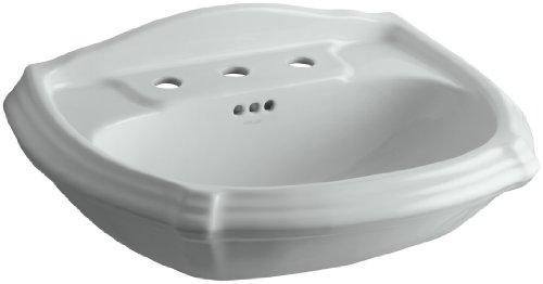 ortrait Pedestal Bathroom Sink Basin with 8