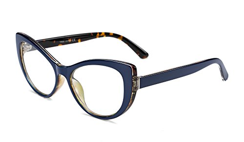 - FEISEDY Womens Cateye Glasses Frame Printed Eyewear Non-prescription Eyeglasses B2441