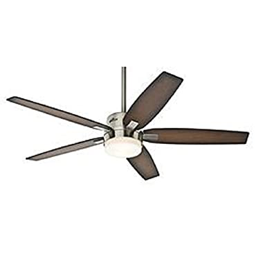 Hunter 59039 Windemere 54 in. Indoor Ceiling Fan with Light and Remote Brushed Nickel