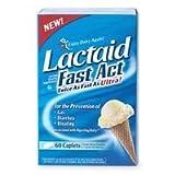 Lactaid-Fast Act Lactase Enzyme Supplement, 288 Caplets (4 Pack)