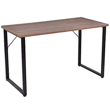 Amazon TANGKULA Writing Table Computer Desk Writing Desk Custom Modern Wood Office Furniture