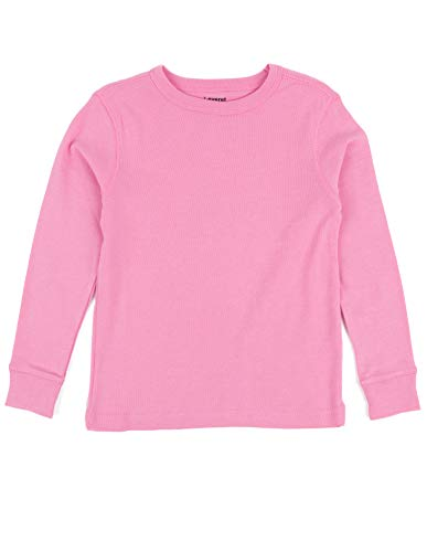 Leveret Long Sleeve Solid T-Shirt 100% Cotton (8 Years, Light Pink) -