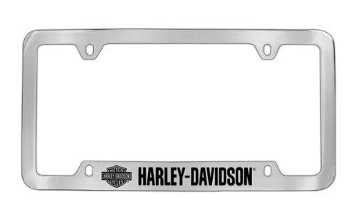 Harley Davidson Car Truck SUV License Plate Frame Metal - Script w/ Bar & Shield - License Harley Plate Davidson Metal