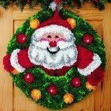 "Latch Hook Kit""Santa,s Wreath""52cm circular"