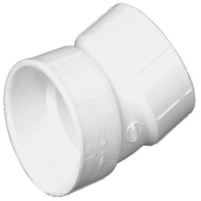 Charlotte Pipe & Foundry PVC 00324 1000HA Plastic Pipe Fitting, DWV Elbow, PVC, 22-1/2 Degree, 3-In. - Quantity 40