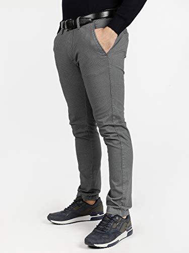 In Cotone Pantaloni Grigio Guy Uomo Con Microfantasia 4qwAW5ET