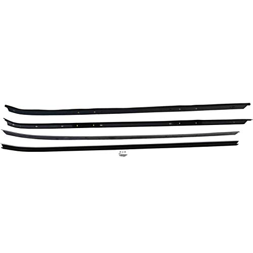 Eckler's Premier Quality Products 33150347 Camaro Inner & Outer Window Felt Weatherstrip Kit With Chrome Moldings